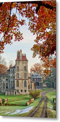 Fonthill Castle In The Fall Metal Print