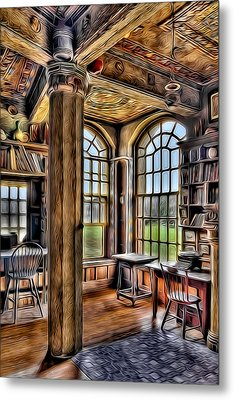 Fonthill Castle Office Metal Print by Susan Candelario