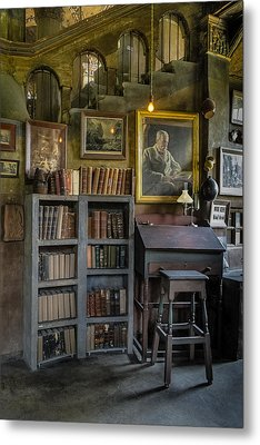 Fonthill Castle Saloon Metal Print by Susan Candelario