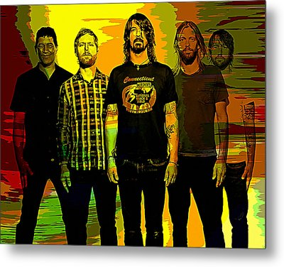 Foo Fighters Metal Print by Marvin Blaine