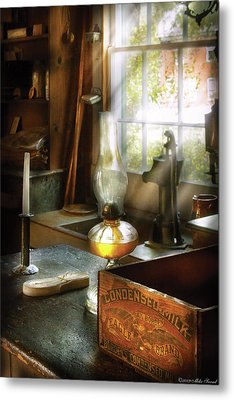 Food - Borden's Condensed Milk Metal Print by Mike Savad