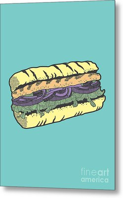 Food Masquerade Metal Print by Freshinkstain
