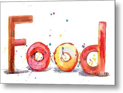 Food Metal Print by Regina Jershova
