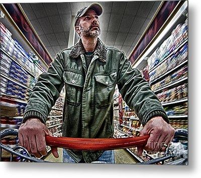 Food Shopping Metal Print by Mark Miller