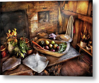 Food - The Start Of A Healthy Meal  Metal Print by Mike Savad