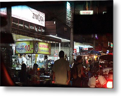 Food Vendors - Night Street Market - Chiang Mai Thailand - 01131 Metal Print by DC Photographer
