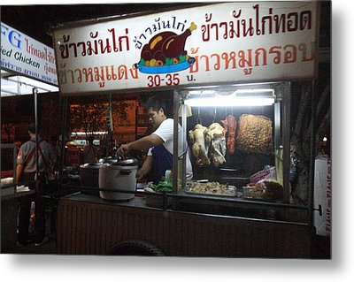 Food Vendors - Night Street Market - Chiang Mai Thailand - 01133 Metal Print