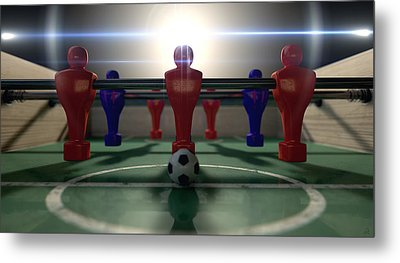 Foosball Table Metal Print