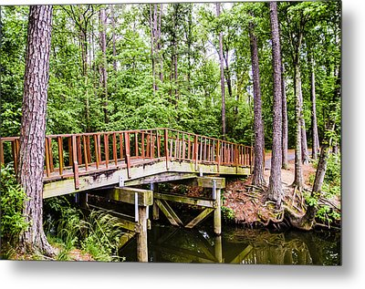Foot Bridge Metal Print