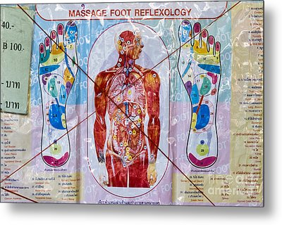Foot Massage Metal Print by Luciano Mortula