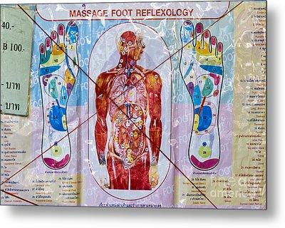 Foot Massage Metal Print