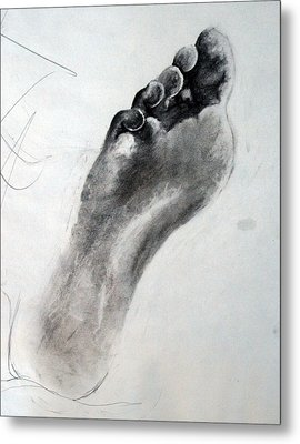 Foot Study Metal Print by Corina Bishop