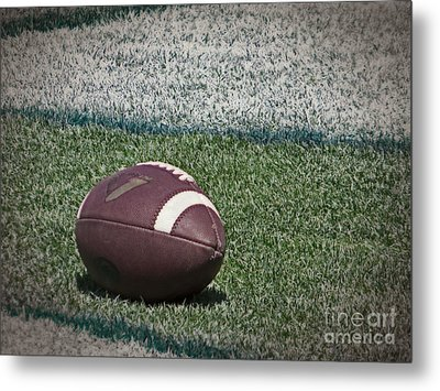 An American Football Metal Print