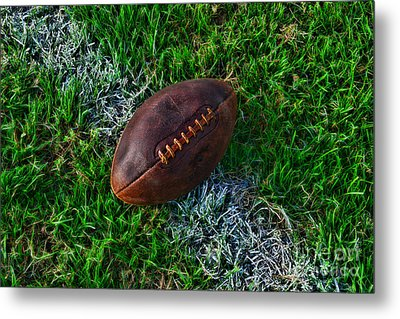 Football - First And Goal Metal Print by Paul Ward