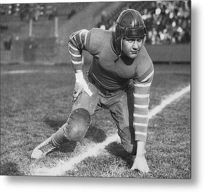 Football Fullback Player Metal Print by Underwood Archives