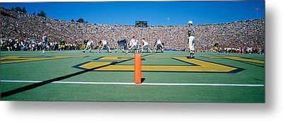 Football Game, University Of Michigan Metal Print