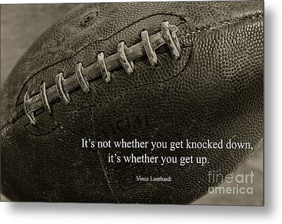 Football Get Up Metal Print by Paul Ward