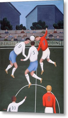 Football Metal Print by Jerzy Marek