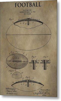 Football Patent Metal Print by Dan Sproul