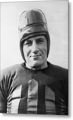 Football Player Portrait Metal Print by Underwood Archives