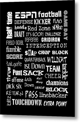Football Subway Art Metal Print