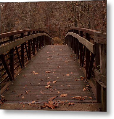 Footbridge At Conkle's Hollow Metal Print