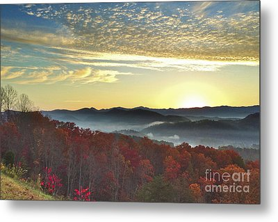 Foothills Parkway Sunrise Metal Print