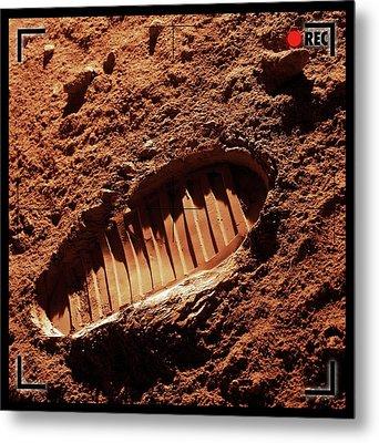 Footprint On Mars Metal Print by Detlev Van Ravenswaay