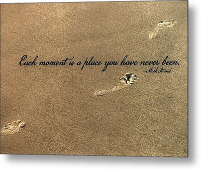 Footprints Quote Metal Print by JAMART Photography