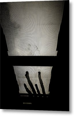 Footsteps And Faces Metal Print by Lenny Carter