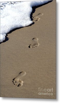 Footsteps Metal Print