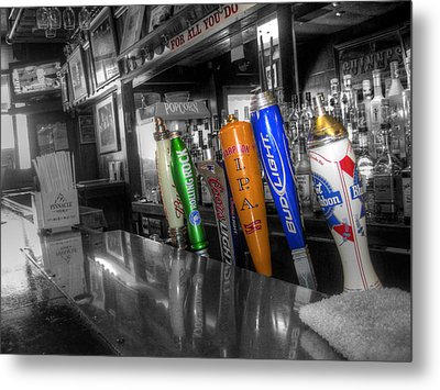 For All You Do - Beer Taps - Selective Color Metal Print