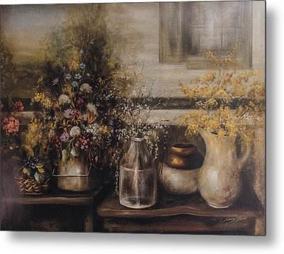 For Lo The Winder Has Passed Metal Print by Nancy Gorr