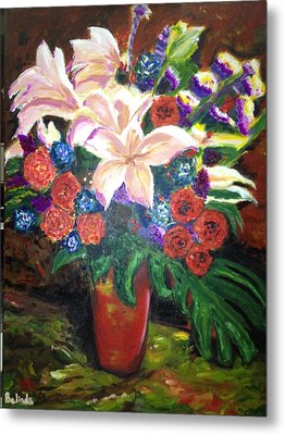 Metal Print featuring the painting For My Friend Lily by Belinda Low