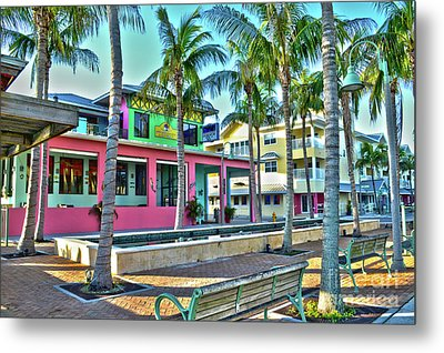 For Myers Beach Restaurant Metal Print by Timothy Lowry