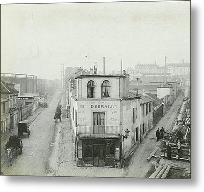 For The Construction Of The Metro In Paris Metal Print by Artokoloro