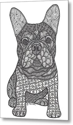 For The Love - French Bulldog Metal Print