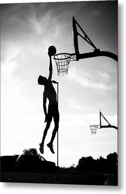 For The Love Of Basketball  Metal Print by Lisa Piper