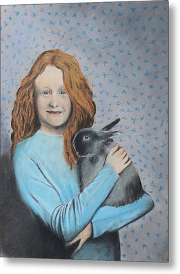Metal Print featuring the painting For The Love Of Bunny by Jeanne Fischer