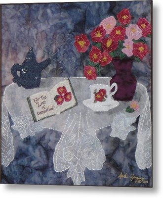 For The Love Of Camellias Metal Print by Anita Jacques