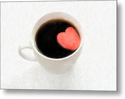 For The Love Of Coffee Metal Print