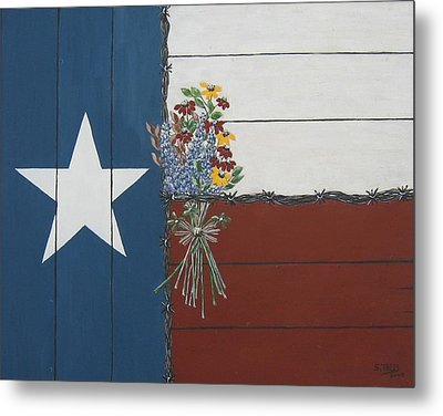 For The Love Of Texas Metal Print