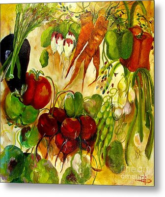 For The Love Of Vegetables Metal Print by Delilah  Smith