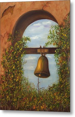 Metal Print featuring the painting For Whom The Bell Tolls Sold by Susan Dehlinger