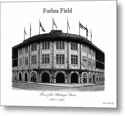 Forbes Field Metal Print by Charles Ott