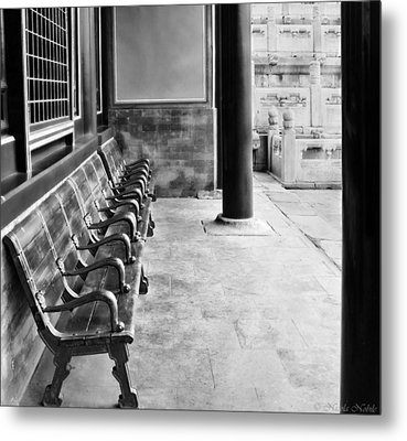 Forbidden City - Benches Metal Print