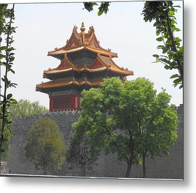 Forbidden City Building 3 Metal Print by Kay Gilley