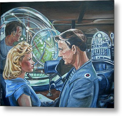 Metal Print featuring the painting Forbidden Planet by Bryan Bustard