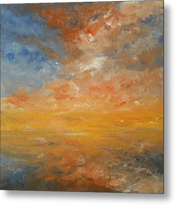 Metal Print featuring the painting Force Of Nature 2 by Jane  See