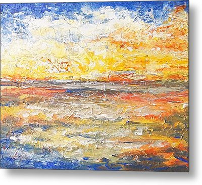 Metal Print featuring the painting Force Of Nature 5 by Jane  See